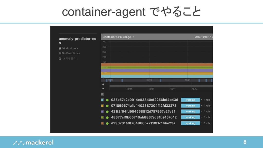8 container-agent でやること