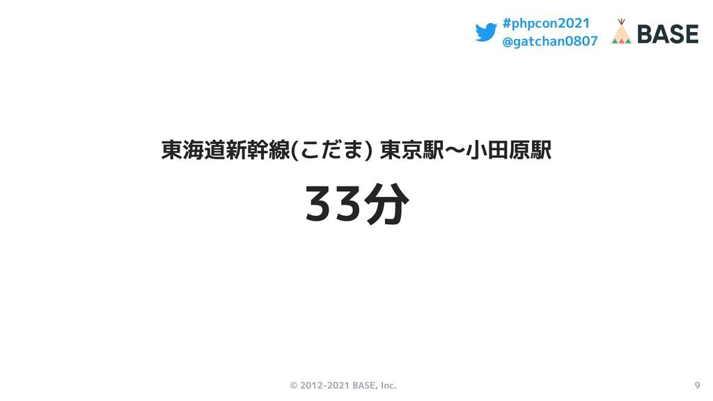 © 2012-2021 BASE, Inc. 9 #phpcon2021 @gatchan08...
