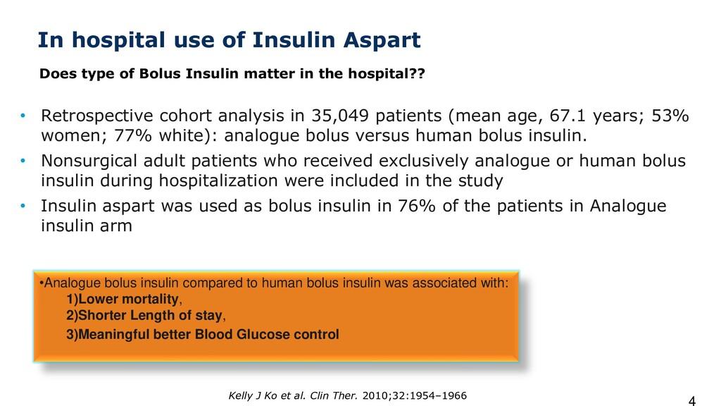In hospital use of Insulin Aspart • Retrospecti...