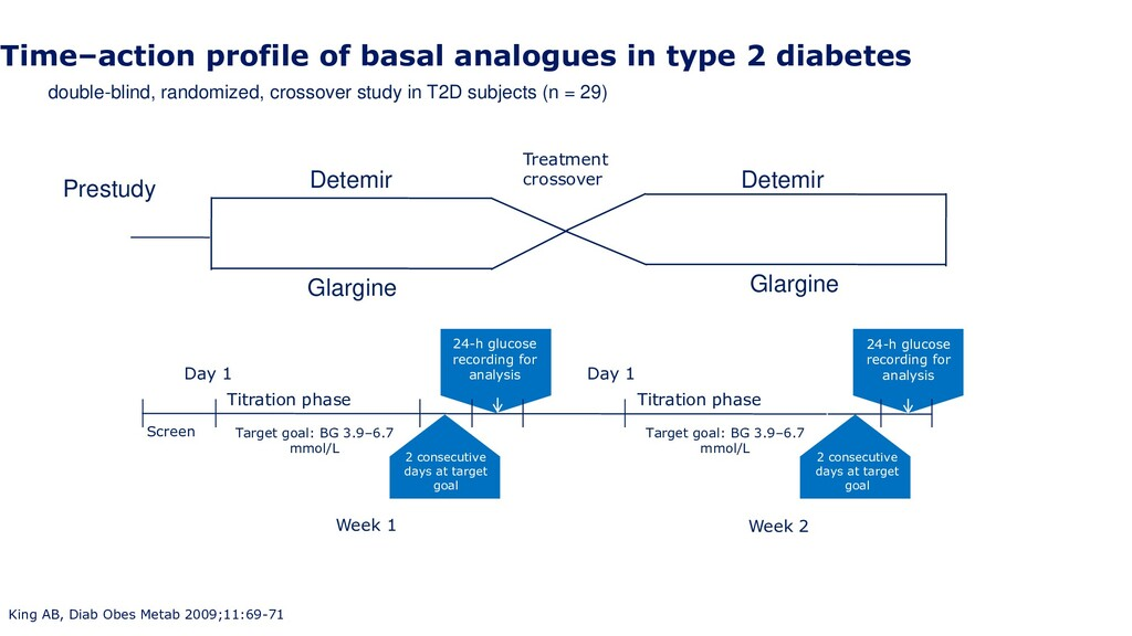 Time–action profile of basal analogues in type ...