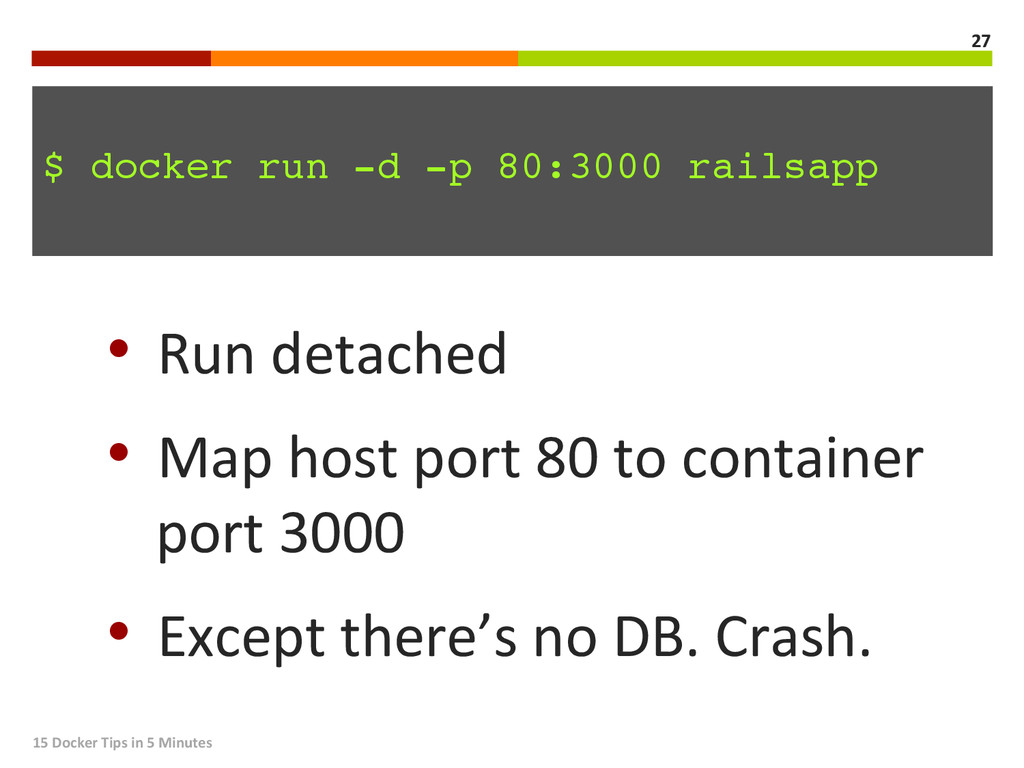 15 Docker Tips in 5 Minutes  ...