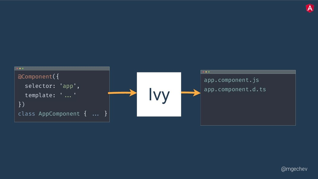 @mgechev Ivy @Component({ selector: 'app', temp...