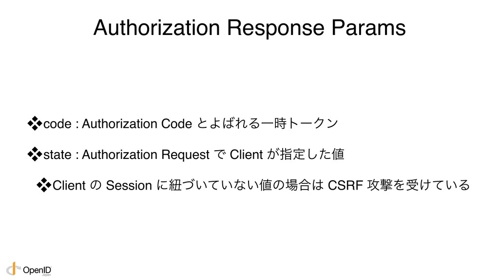 Authorization Response Params code : Authoriza...