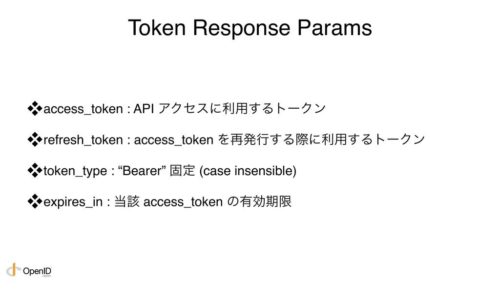 Token Response Params access_token : API ΞΫηεʹ...