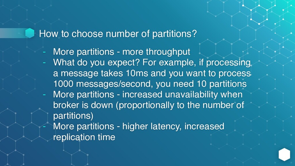 How to choose number of partitions? - More part...