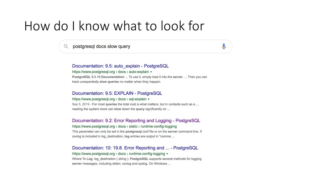 How do I know what to look for