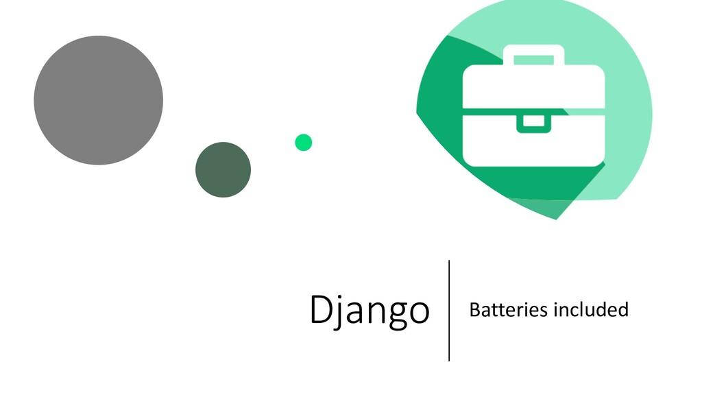 Django Batteries included