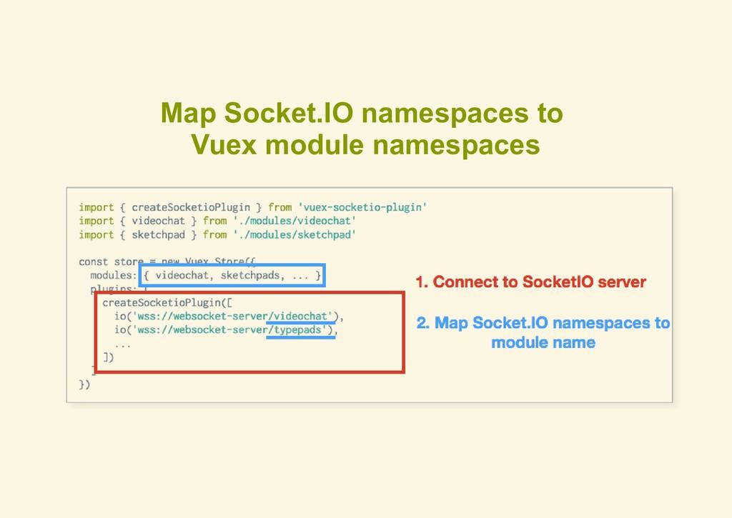 Map Socket.IO namespaces to Vuex module namespa...