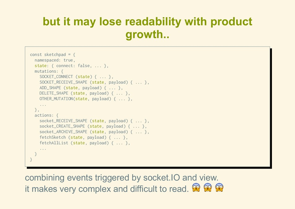 but it may lose readability with product growth...
