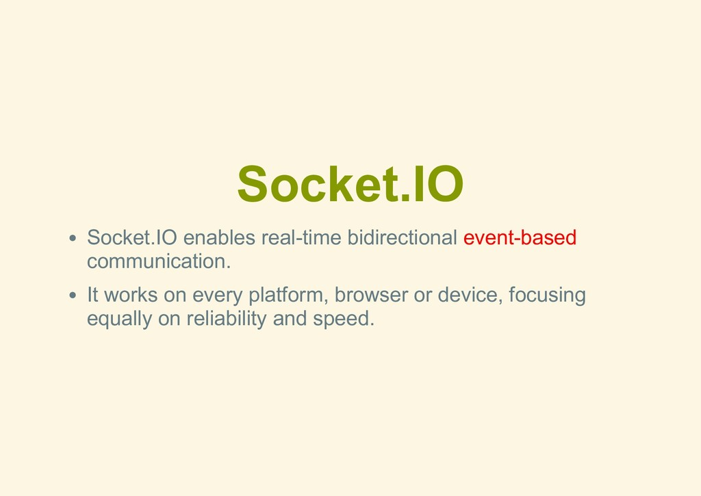Socket.IO Socket.IO enables realtime bidirecti...