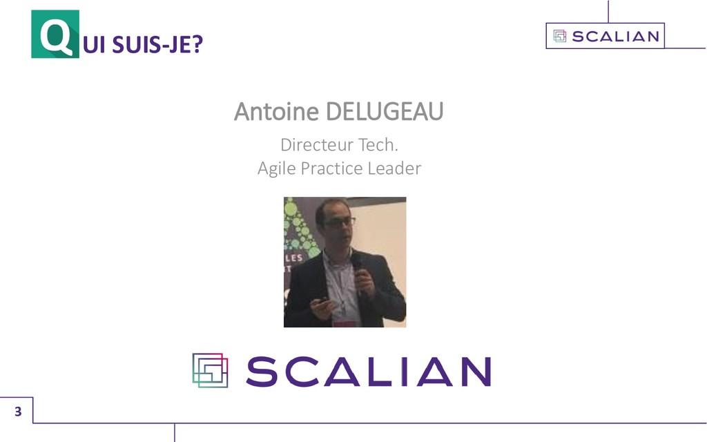 3 UI SUIS-JE? Antoine DELUGEAU Directeur Tech. ...