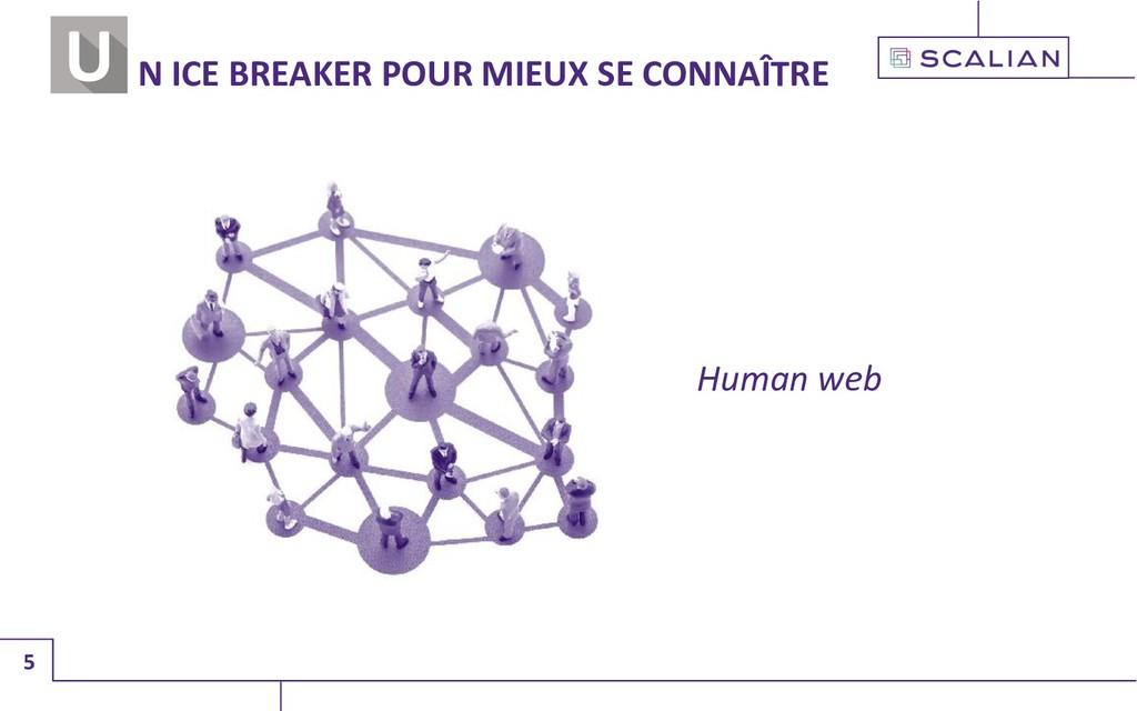 5 N ICE BREAKER POUR MIEUX SE CONNAÎTRE Human w...