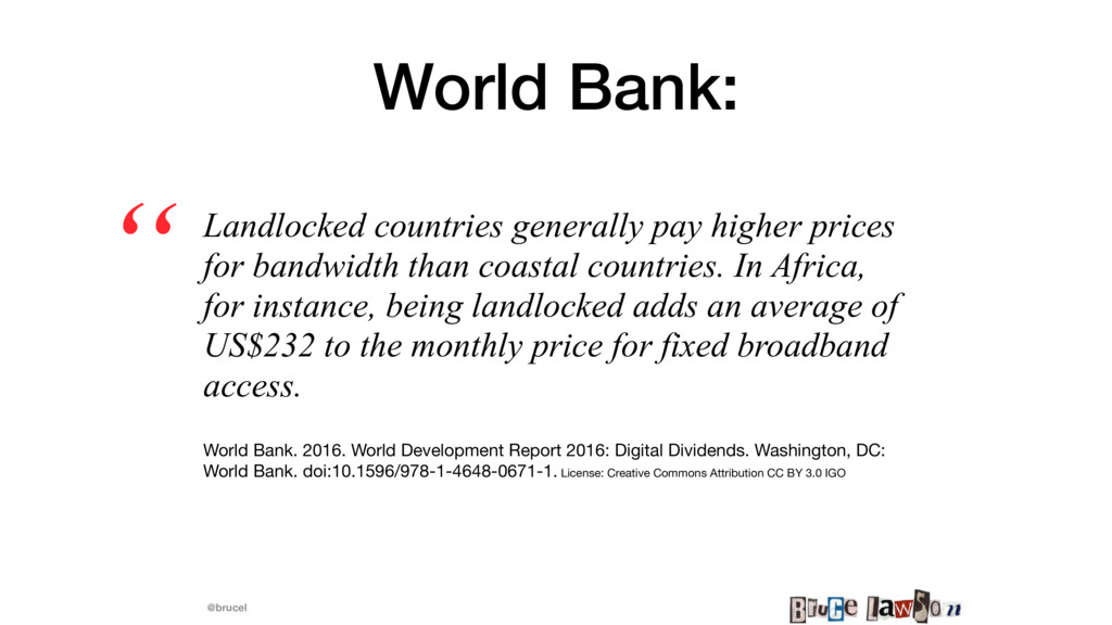 @brucel World Bank: Landlocked countries genera...