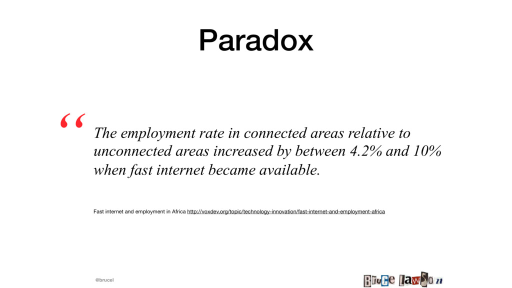 @brucel Paradox The employment rate in connecte...