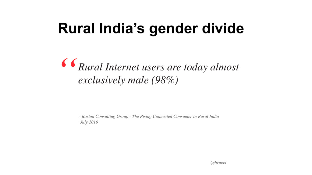 @brucel Rural Internet users are today almost e...