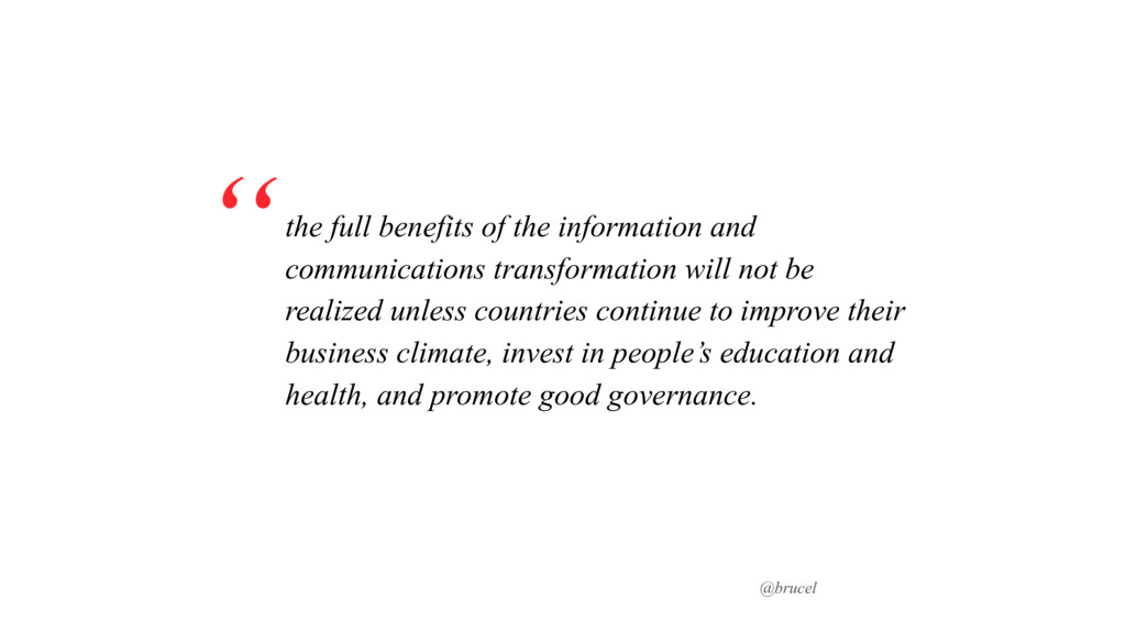 @brucel the full benefits of the information an...