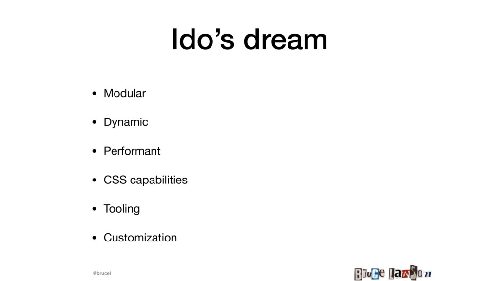 @brucel Ido's dream • Modular  • Dynamic  • Per...