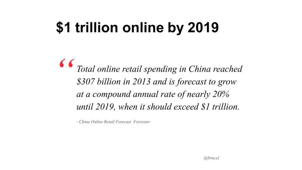 @brucel Total online retail spending in China r...