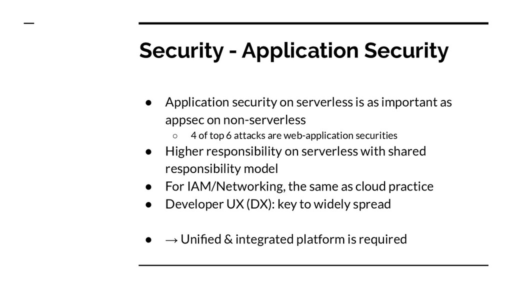Security - Application Security ● Application s...