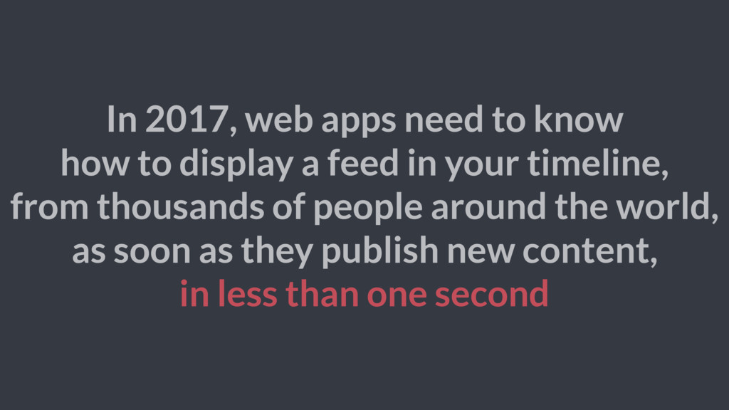 In 2017, web apps need to know how to display a...