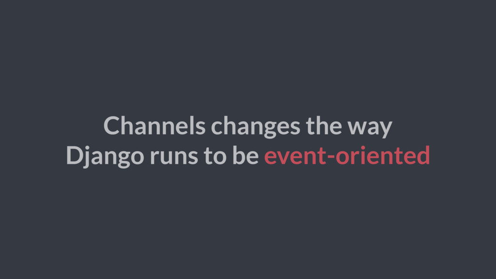 Channels changes the way Django runs to be even...