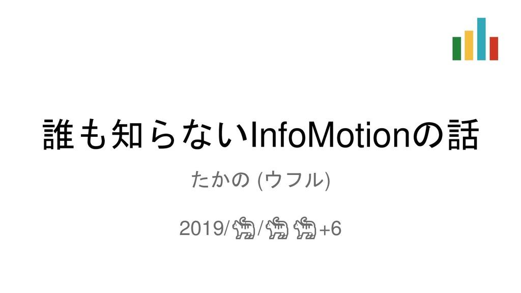 誰も知らないInfoMotionの話 たかの (ウフル) 2019//+6