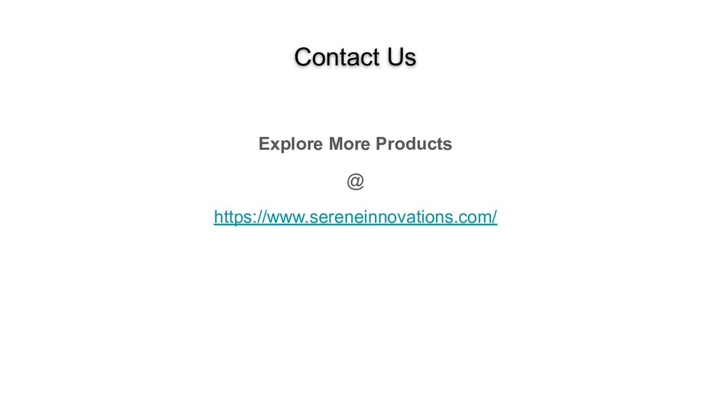 Contact Us Explore More Products @ https://www....