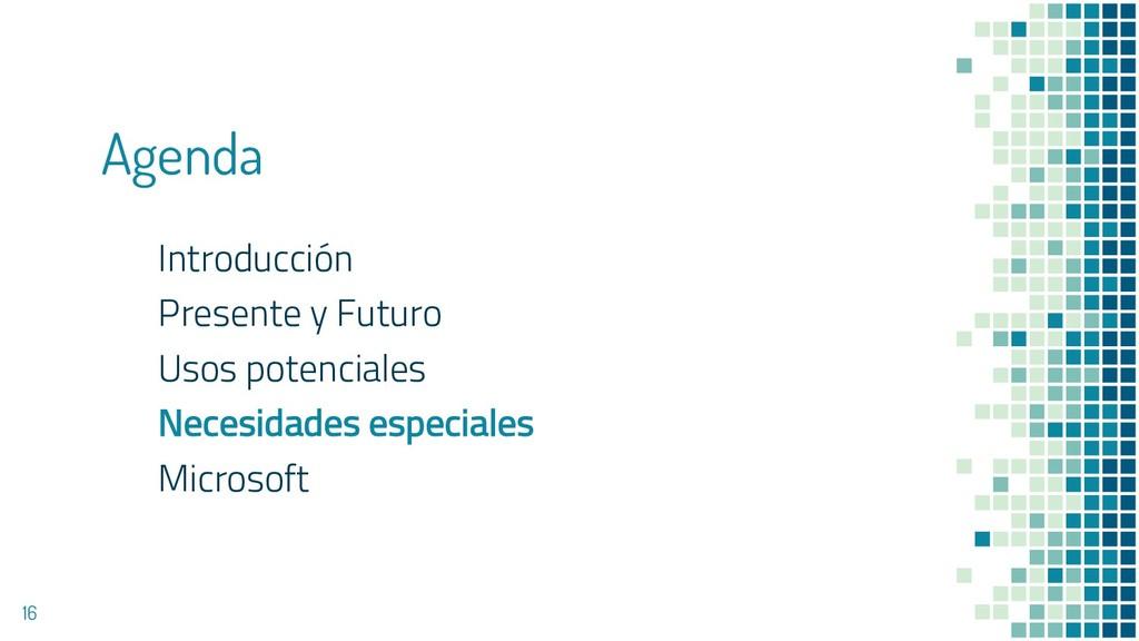 Agenda Introducción Presente y Futuro Usos pote...