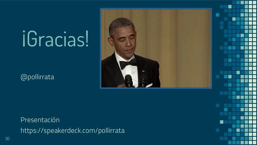 ¡Gracias! @pollirrata Presentación https://spea...
