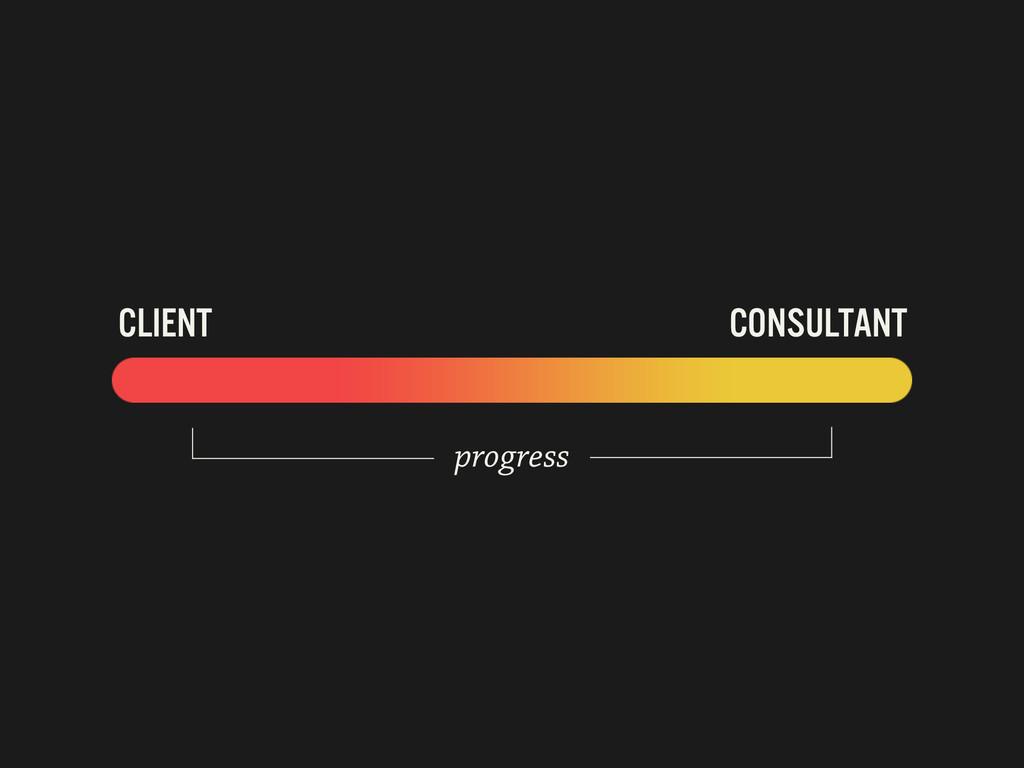CLIENT CONSULTANT progress