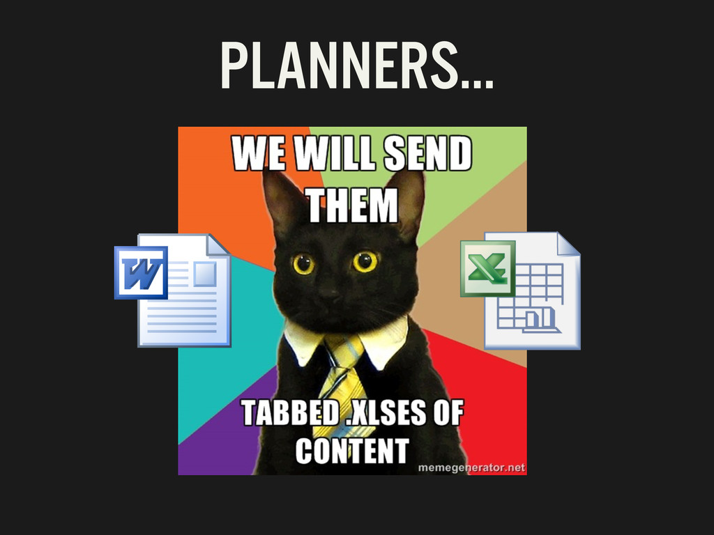 PLANNERS…