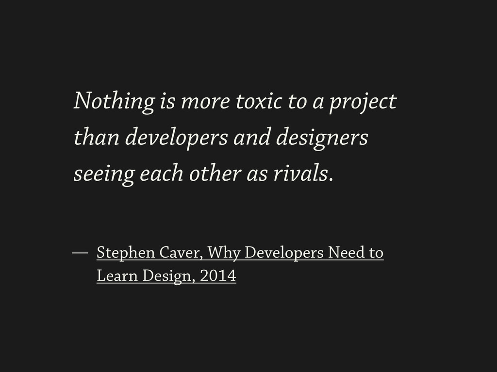 ! Stephen Caver, Why Developers Need to Learn D...