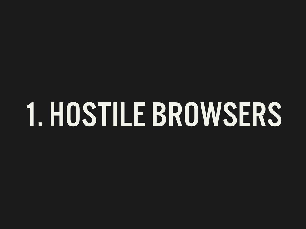1. HOSTILE BROWSERS