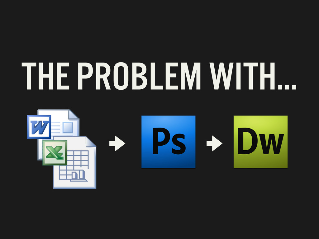 THE PROBLEM WITH…