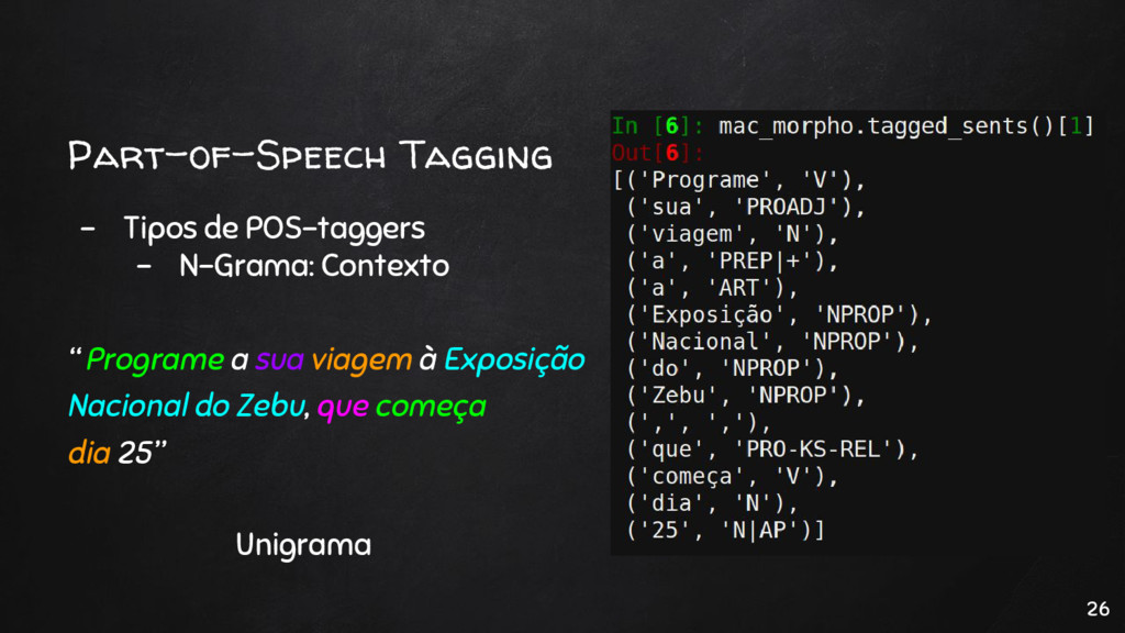 Part-of-Speech Tagging - Tipos de POS-taggers -...