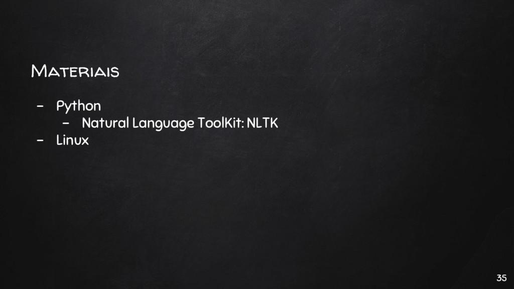 Materiais - Python - Natural Language ToolKit: ...