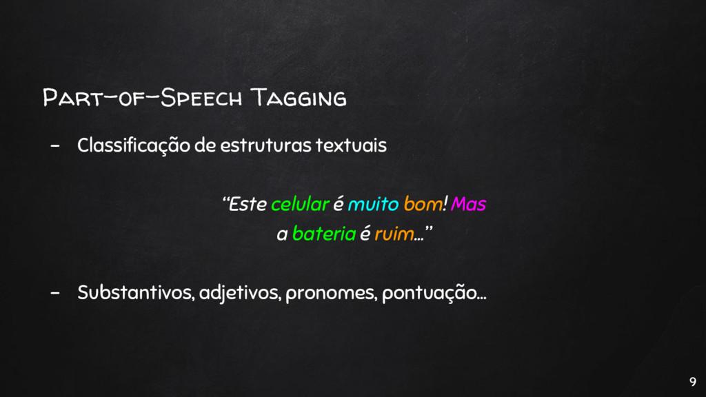 Part-of-Speech Tagging - Classificação de estru...