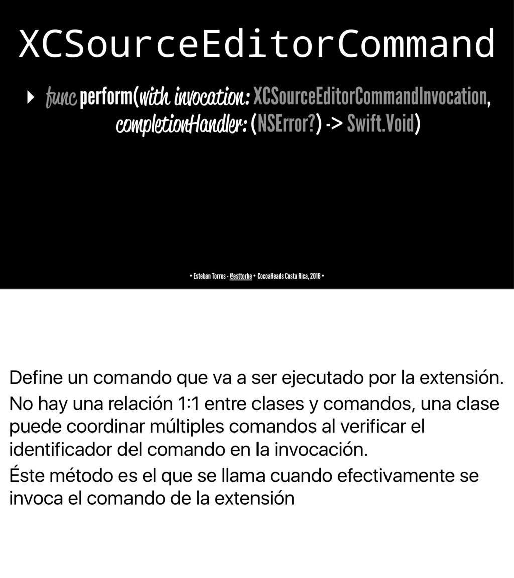 Define un comando que va a ser ejecutado por la...
