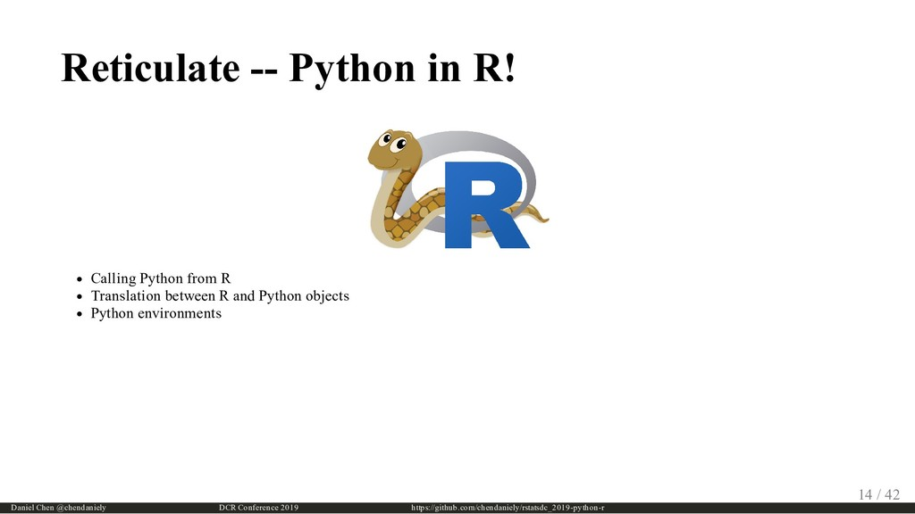 Reticulate -- Python in R! Calling Python from ...