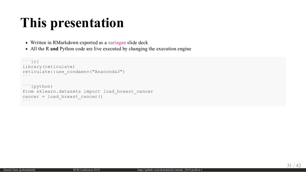 This presentation Written in RMarkdown exported...