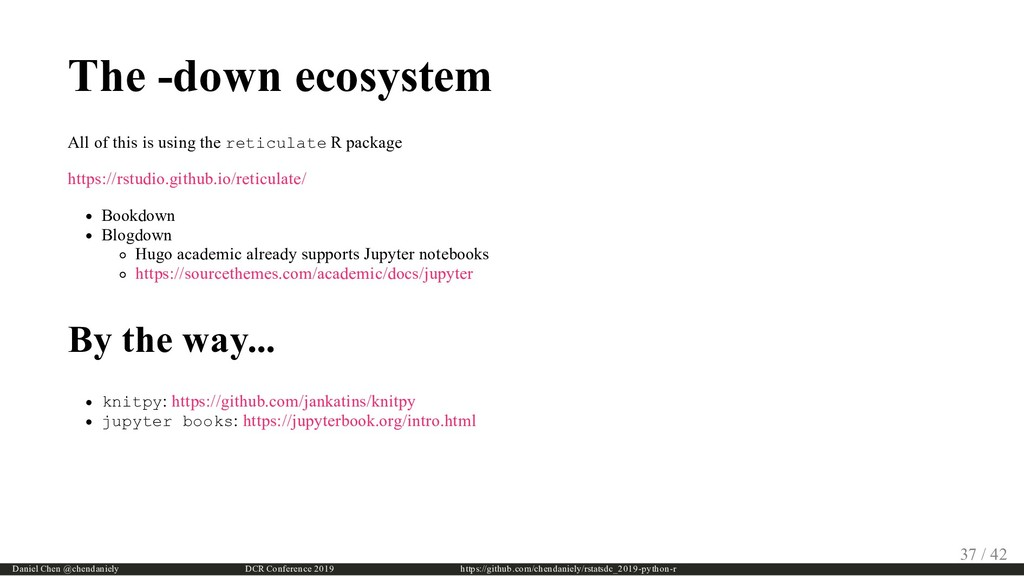 The -down ecosystem All of this is using the re...