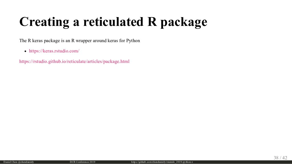 Creating a reticulated R package The R keras pa...