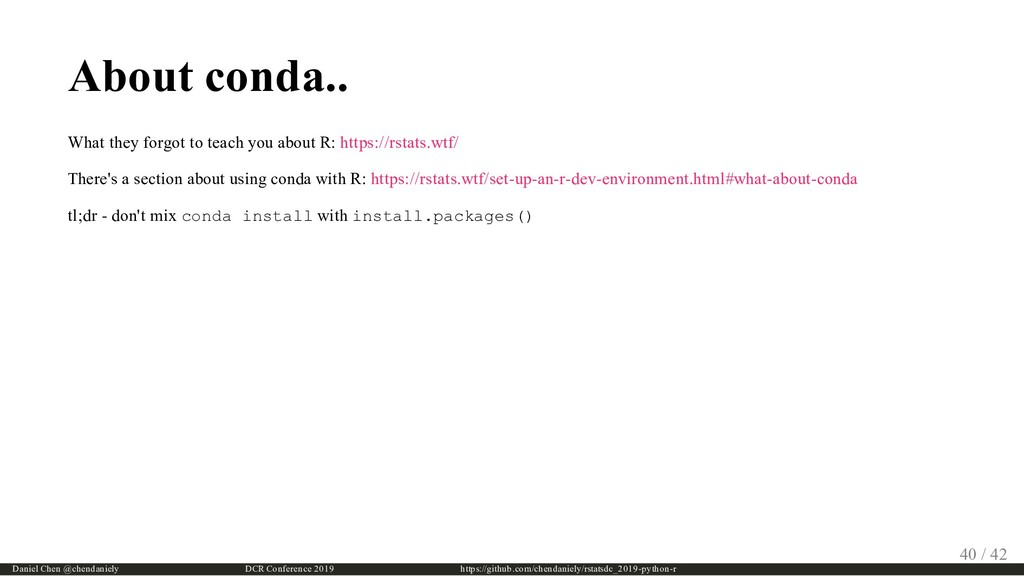 About conda.. What they forgot to teach you abo...