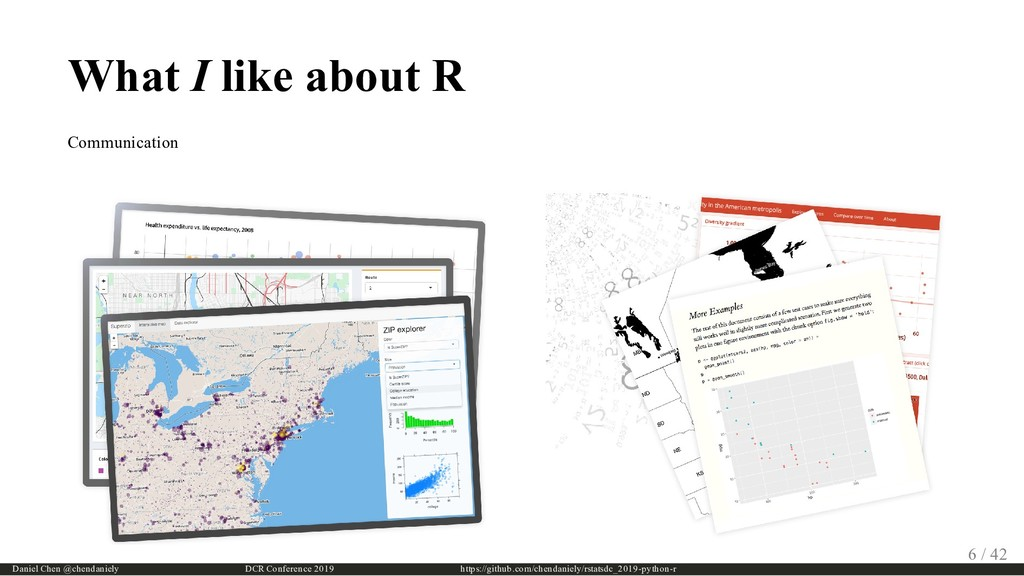 What I like about R Communication Daniel Chen @...