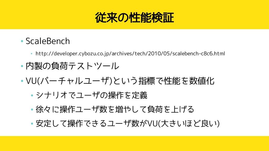 従来の性能検証 • ScaleBench • http://developer.cybozu....