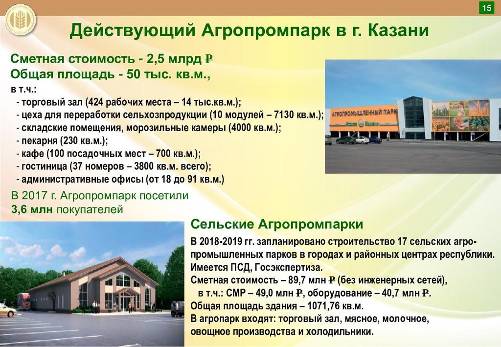 Действующий Агропромпарк в г. Казани Сметная ст...
