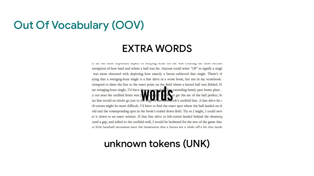 Out Of Vocabulary (OOV) EXTRA WORDS unknown tok...