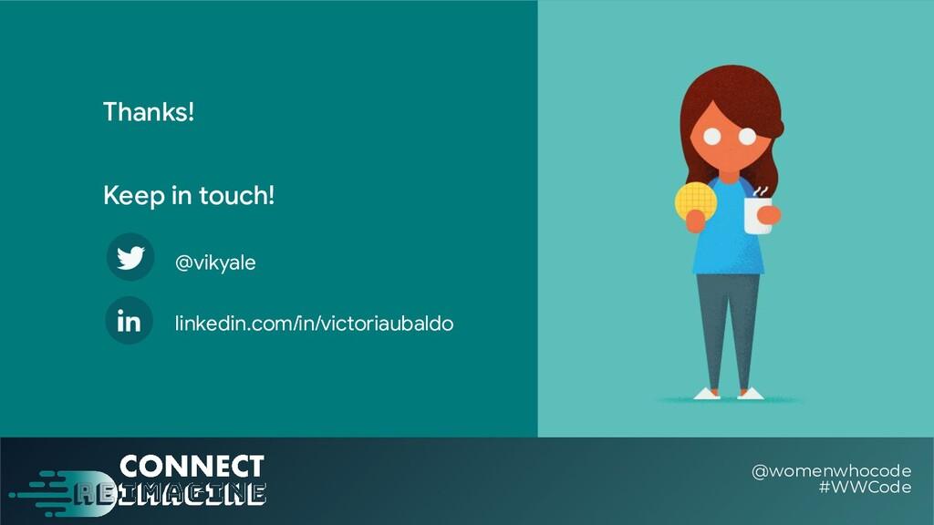 Thanks! @womenwhocode #WWCode Keep in touch! li...