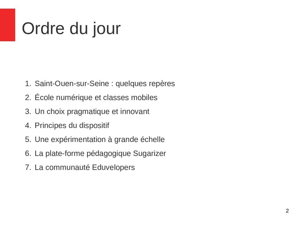 2 Ordre du jour 1. Saint-Ouen-sur-Seine : quelq...