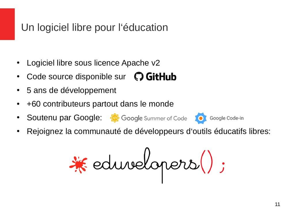 11 Un logiciel libre pour l'éducation ● Logicie...